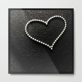 Buckyball heart. Metal Print