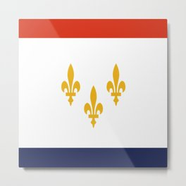flag of new orleans,NOLA, Crescent City,Big Easy, Nawlins, jazz,Lousiana,french,cajun,treme Metal Print