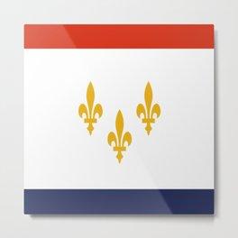 flag of new orleans,NOLA,Crescent City,Big Easy,Nawlins, jazz,Lousiana,french,cajun,treme Metal Print