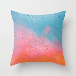 Cotton Candy Cloud Drips Throw Pillow