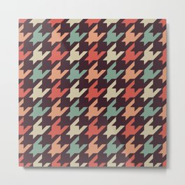 Retro alien pattern Metal Print