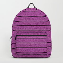Purple seamless stripes Backpack
