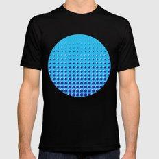 Blue on blue grid - Optical game 14 MEDIUM Mens Fitted Tee Black