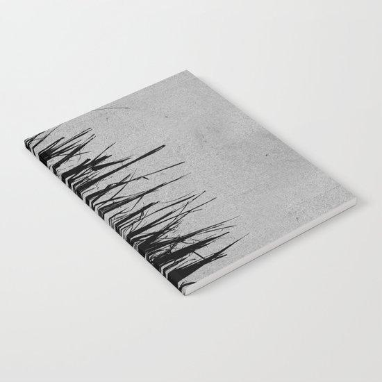 Concrete Fringe Black on Side Notebook