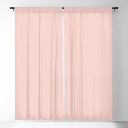 Blush Pink Millennial Pink Rose Gold Solid Color Blackout Curtain