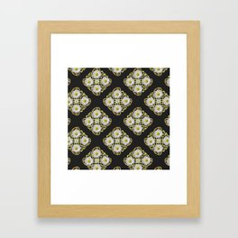 LACEY WHITE DAISIES ABSTRACT BLACK ART Framed Art Print