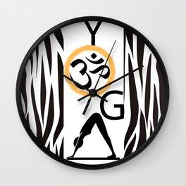 Yoga Black and White Wall Clock