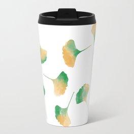 Ginkgo biloba leaves white Travel Mug