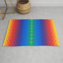 Rainbow rhombuses Rug