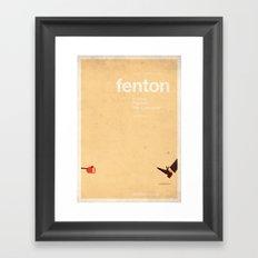 Fenton - MemeMoviePosters Framed Art Print