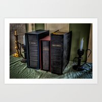 bible Art Prints featuring The Bible by Adrian Evans