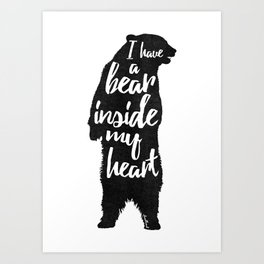 Bear Heart Art Print