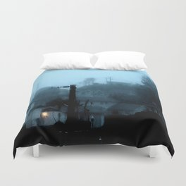 Strange Night: Ghost Light Duvet Cover