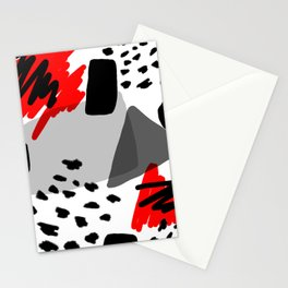 Red, White and Black Stationery Cards