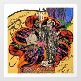Psychedelic amarillo Art Print