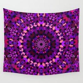 Purple Petal Garden Mandala Wall Tapestry
