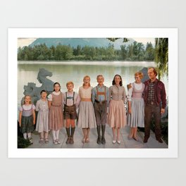 Jack Torrance in The Sound of Music Art Print