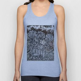 ' Templez Ov The Minde ' By: Matthew Crispell Unisex Tank Top
