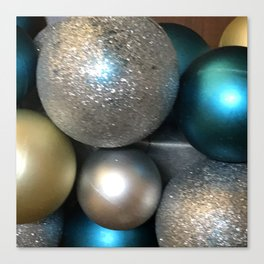 Hanukkah and Christmas Holidays Sparkle Ornaments Canvas Print