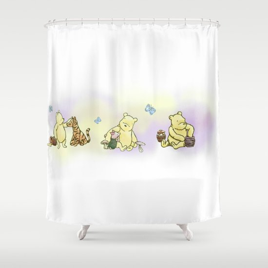 Classic Winnie the Pooh, edit Shower Curtain by Kltj11 | Society6