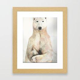 Polar Bear Gaze Framed Art Print