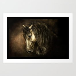 French horse of Chantilly Art Print