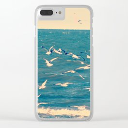 Fly to the sky Clear iPhone Case