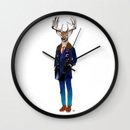 Gentle Deer / Coloured Wall Clock