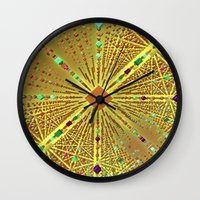 labyrinth Wall Clocks featuring Labyrinth by Fractalinear