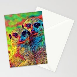 AnimalColor_Meerkat_002_by_JAMColors Stationery Cards