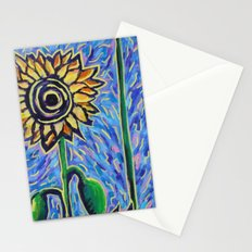 two sunflowers Stationery Cards