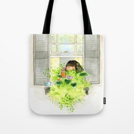 Leafy Window Box Tote Bag