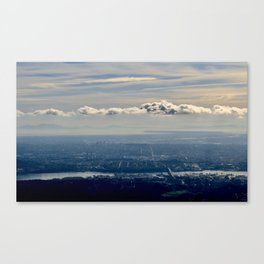 Silver Linings over Vancouver Canvas Print