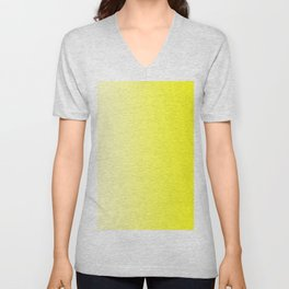 Pastel Yellow to Yellow Vertical Linear Gradient Unisex V-Neck