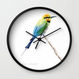 Rainbow Bee Eater by Teresa Thompson Wall Clock