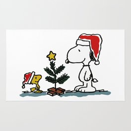 Snoopy Christmas Rug