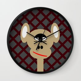 one eye monkey Wall Clock