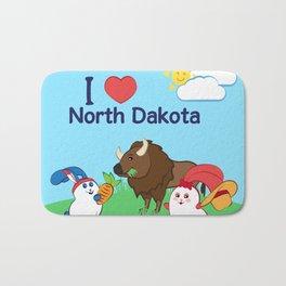 Ernest and Coraline | I love North Dakota Bath Mat