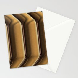 Brown ribbed stripes Stationery Cards