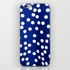 Blue Polka Dots iPhone & iPod Skin