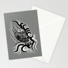 Dragon in Tattoostyle , black - white and grey Design Stationery Cards