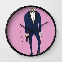 skyfall Wall Clocks featuring Bond / Skyfall by Maxim Nikitin