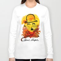 charlie chaplin Long Sleeve T-shirts featuring Charlie Chaplin by Genco Demirer