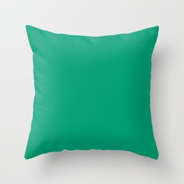 Green VII Throw Pillow