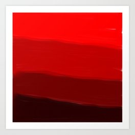 Ombre in Red Art Print