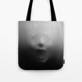 Spooky Halloween Screaming Face Tote Bag