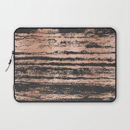 Marble Black Rose Gold - Never Mind Laptop Sleeve