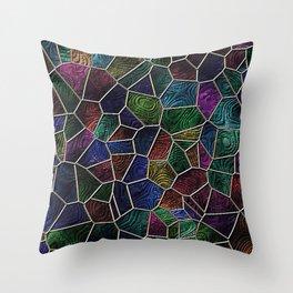 Mosaic LORA,multicolor Throw Pillow