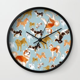 Japanese Dog Breeds Wall Clock