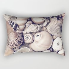 Vintage  Sea Shell Collection Coastal Style Rectangular Pillow